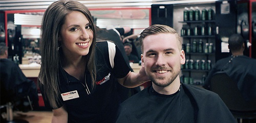Sport Clips Haircuts of Oxbow Crossing Shopping​ stylist hair cut
